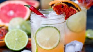 Charred Grapefruit and Ginger Fizz with Chilli Syrup Mocktail