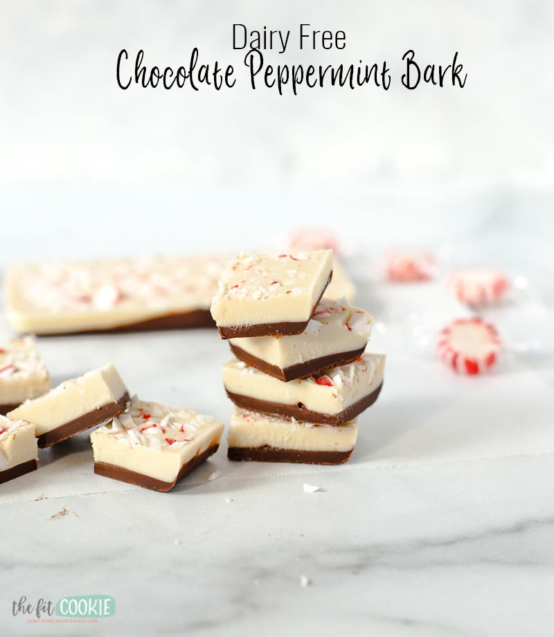 stacked pieces of holiday chocolate bark