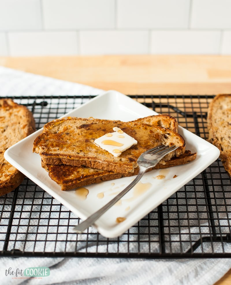 eggnog french toast for christmas breakfast