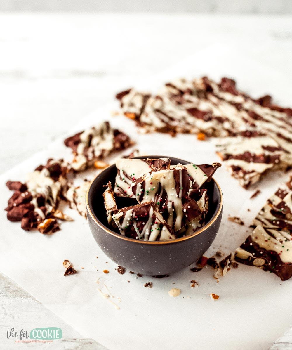 gluten free dairy free chocolate pretzel bark
