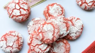 Gluten Free Cranberry Crinkle Cookies
