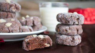 Dark Chocolate Macadamia Nut Cookies (GF, Vegan) - Healthy World Cuisine