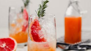 Naturally Sweetened Grapefruit Rosemary Soda