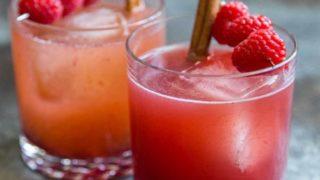 Sparkling Berry Apple Mocktail
