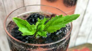 Sparkling Blackberry Basil Mocktail Recipe