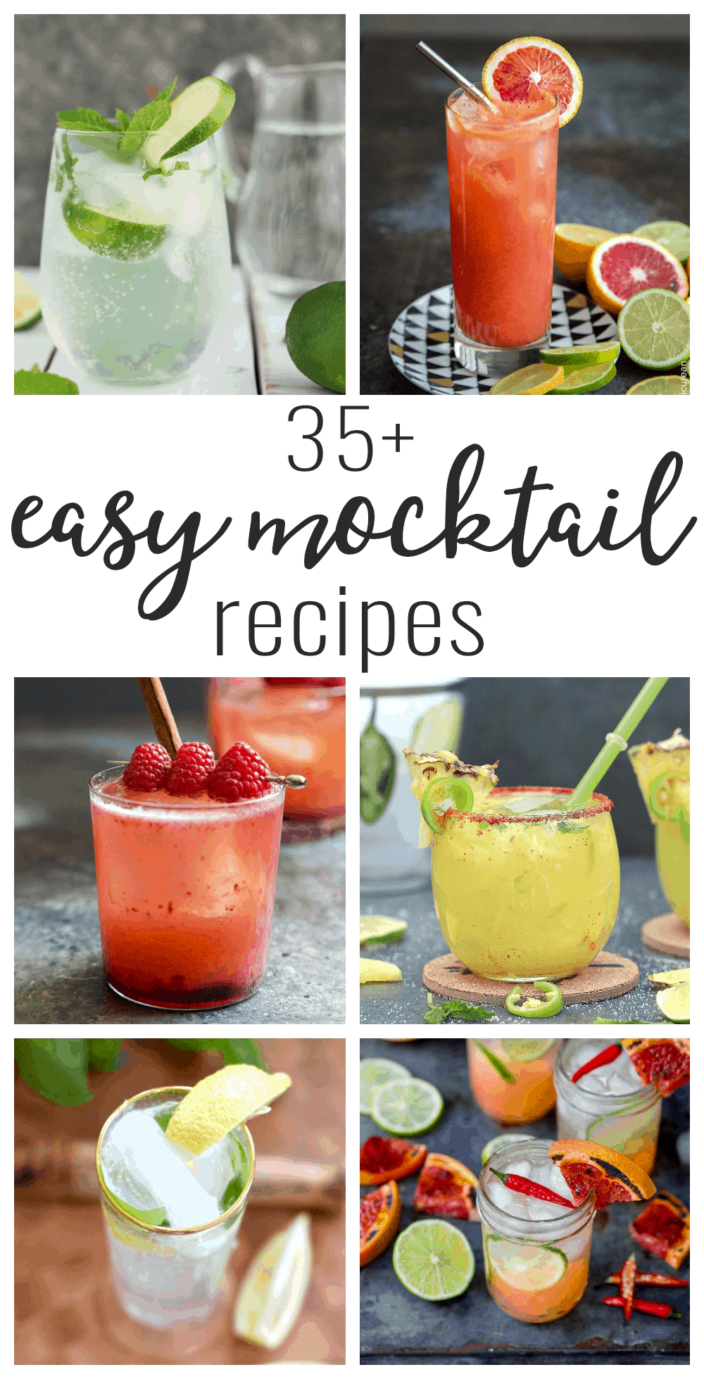 recipe roundup of virgin drinks and mocktail recipes