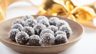 No-Bake Marzipan Rum Balls Recipe (vegan + gf)