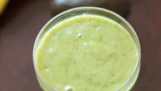 Gluten-free + Vegan Avocado Banana Smoothie - Only 4 ingredients!