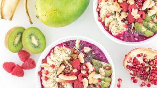 Antioxidant-Packed Dragonfruit Pitaya Bowls