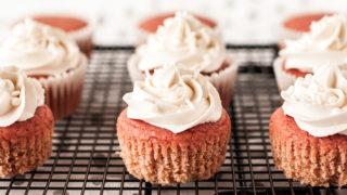 Gluten Free Strawberry Cupcakes (Top 8 Free)