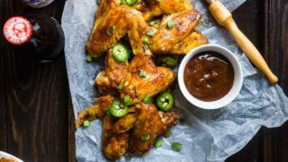 BBQ Paleo Chicken Wings in the Slow Cooker