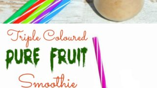 Triple Coloured Pure Fruit Smoothie