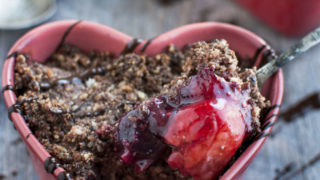 Chocolate Fruit Crisp for Two (Vegan, Gluten Free, Paleo)
