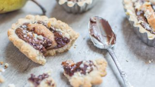 Scrumptious Chocolate & Pear Tarts | Glutenfree * Dairyfree * Eggfree