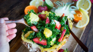 Tutti Fruitti Kale Salad and Citrus Honey Dressing