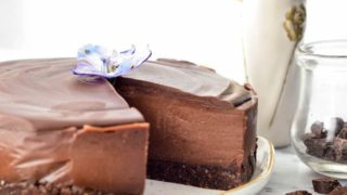 No-Bake Vegan Chocolate Peanut Butter Cheesecake recipe