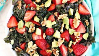 Strawberry Avocado Kale Salad