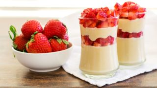 Dairy-Free Strawberry Cheesecake Parfaits Recipe: Healthy but Decadent!