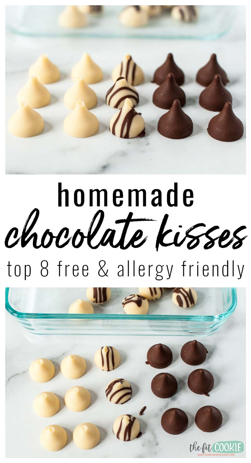 photo collage of homemade chocolate kisses