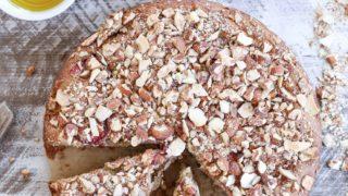 Grain-Free Almond Strawberry Breakfast Cake
