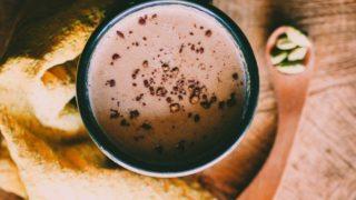 Hot Cacao with Cardamom + Tahini (Vegan)