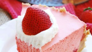 Allergy-friendly No Bake Strawberry Jello Pie (Gluten, dairy, egg, soy, peanut & tree nut free; top-8-free)