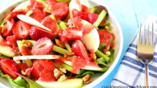 Summer Salad Recipes: Rhubarb, Strawberries and Apple Salad