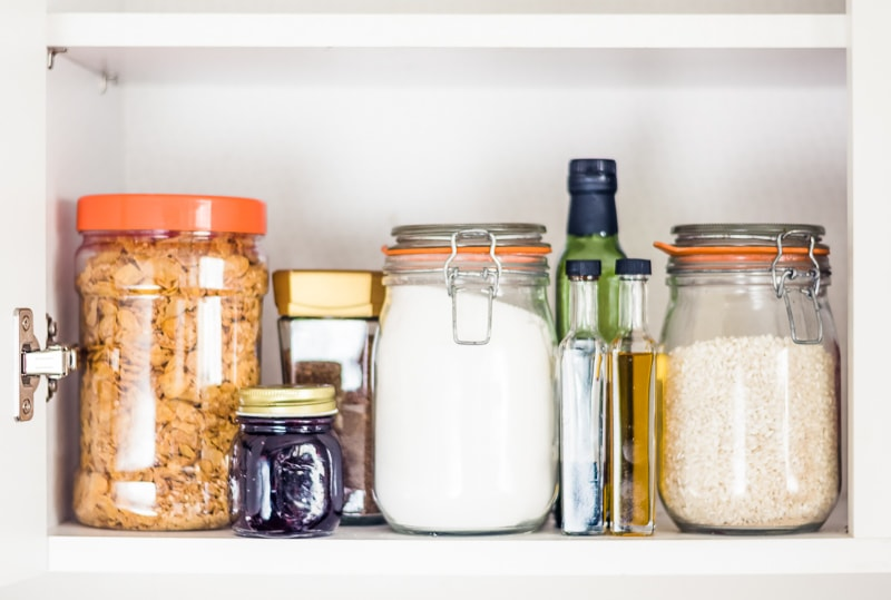 kitchen staples in jars