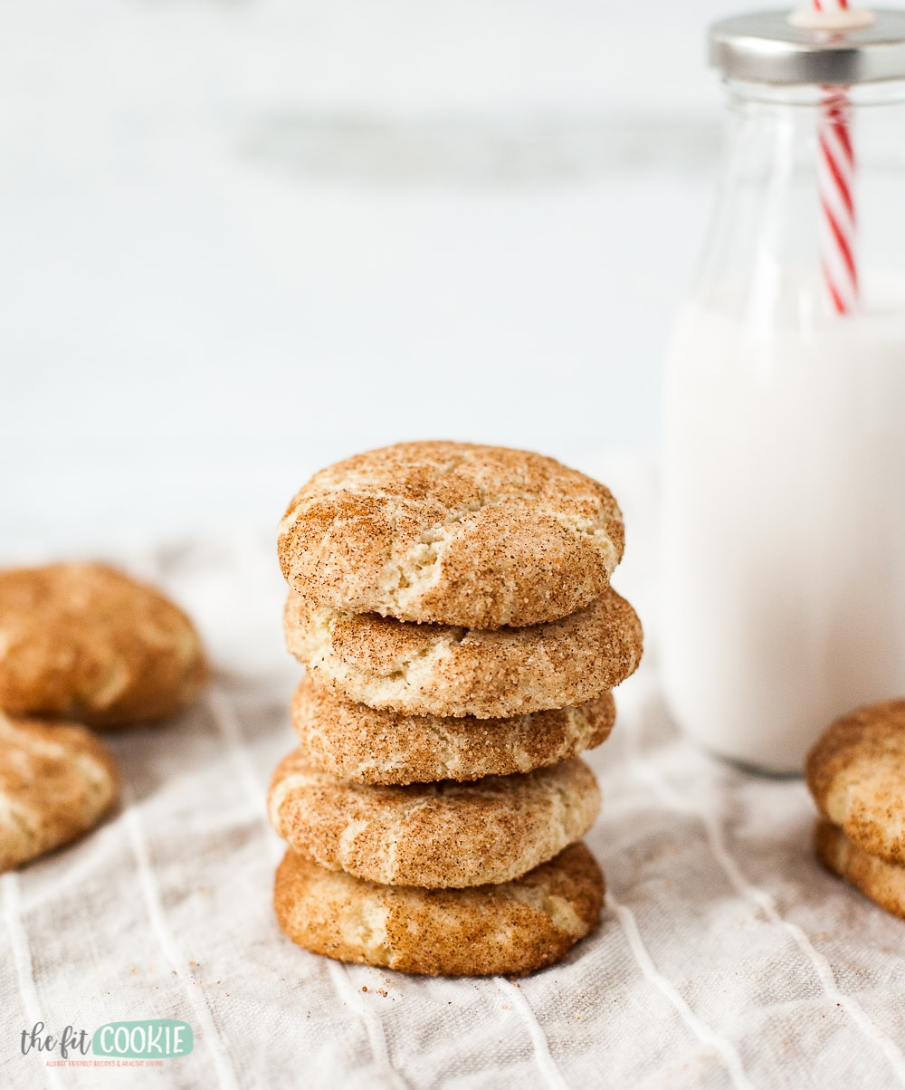 stack of gluten free snickerdoodles