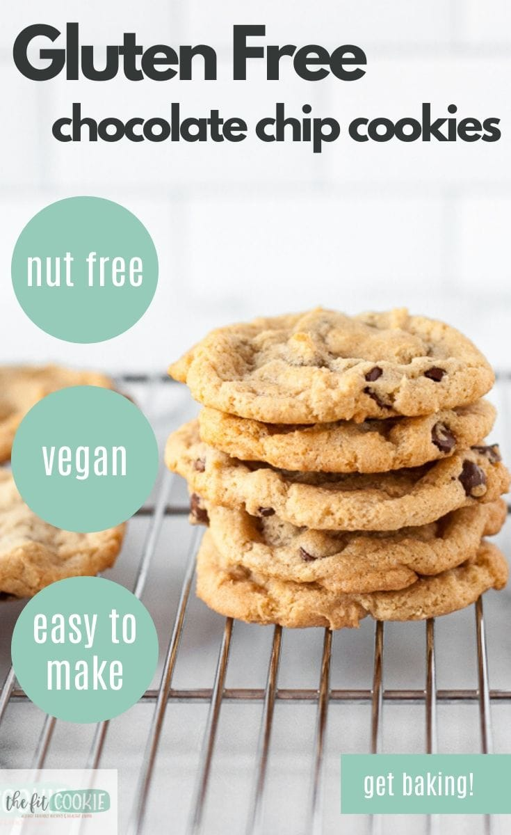 gluten free chocolate chip cookies photo with graphics
