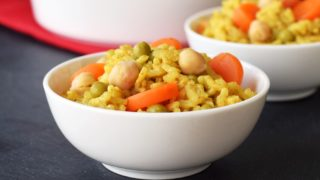 Vegan Baked Curry Risotto (One Pot, No Stir, Pantry Recipe!)