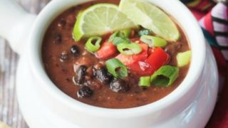 Easy Black Bean Soup (30 Minute Meal!)