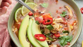 Instant Pot Chicken Tortilla Soup {gluten free}