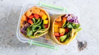 Rainbow Vegetable Tortilla Wrap