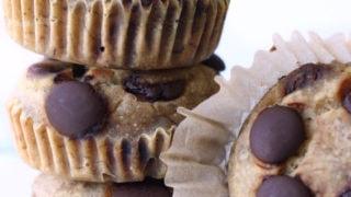 Vegan Chocolate Chip Pancake Muffins {GF + top 8 free}