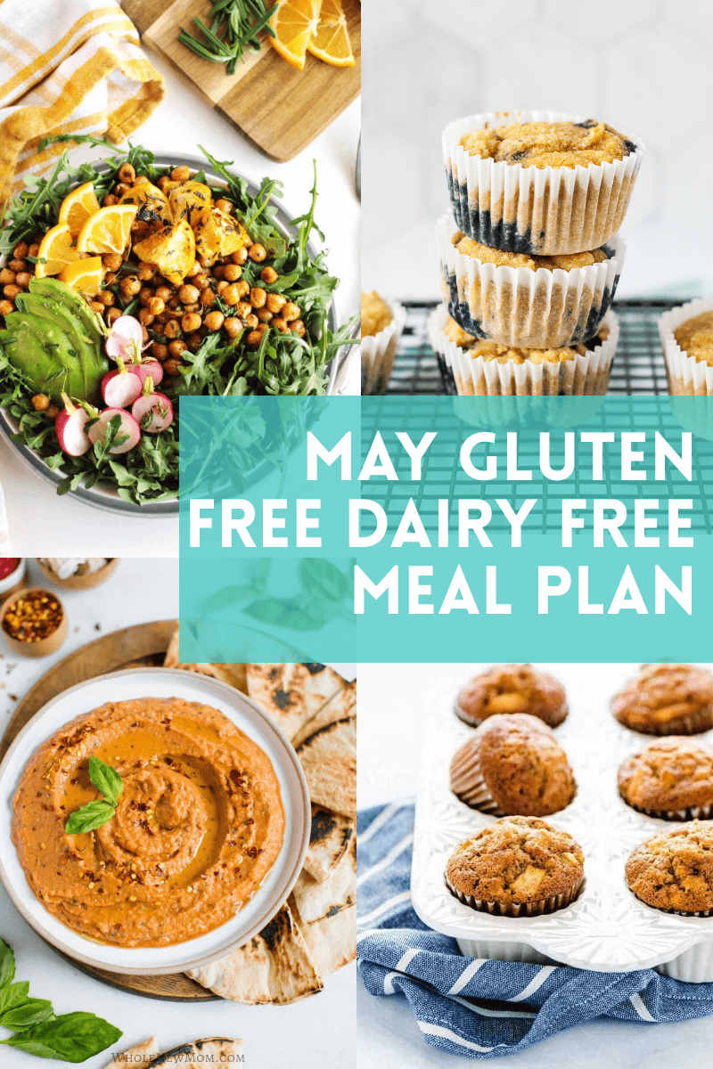 photo collage of gluten free dairy free meals
