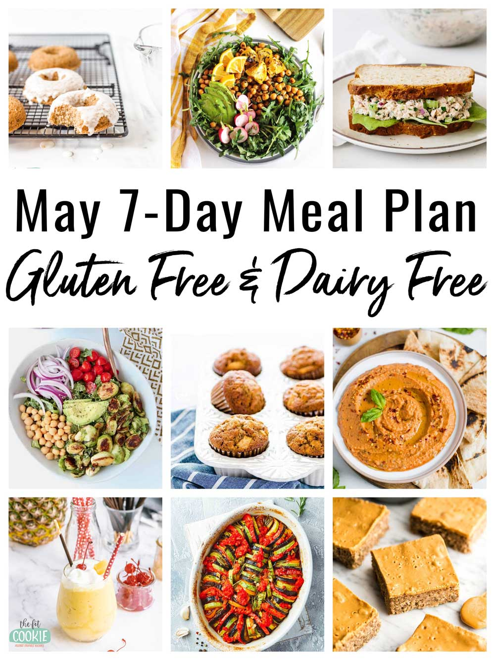 image collage of gluten free meals in a 7-day meal plan