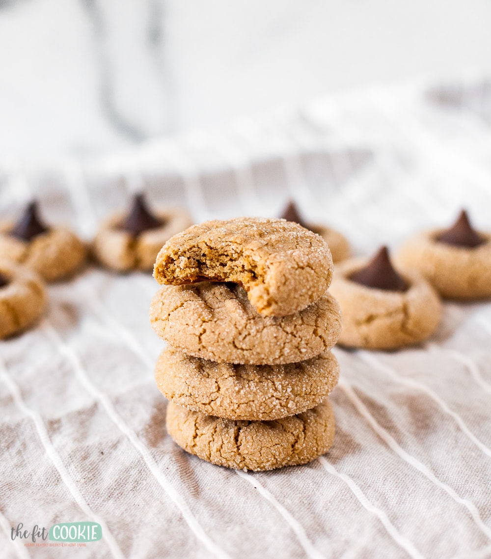 stack of soft sunbutter cookies