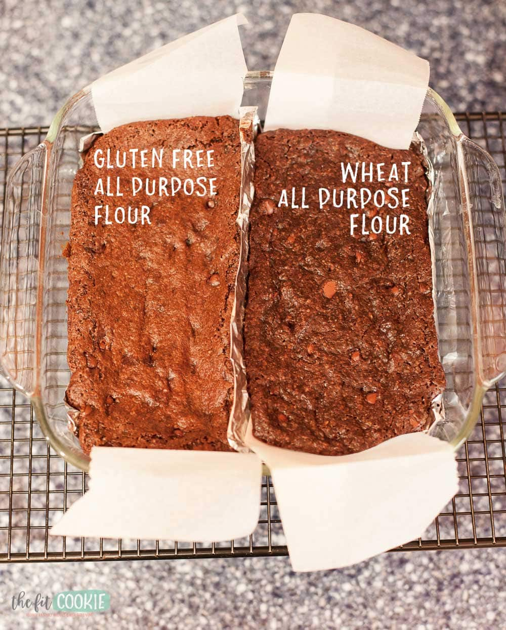 Comparison of vegan brownies made with different flours