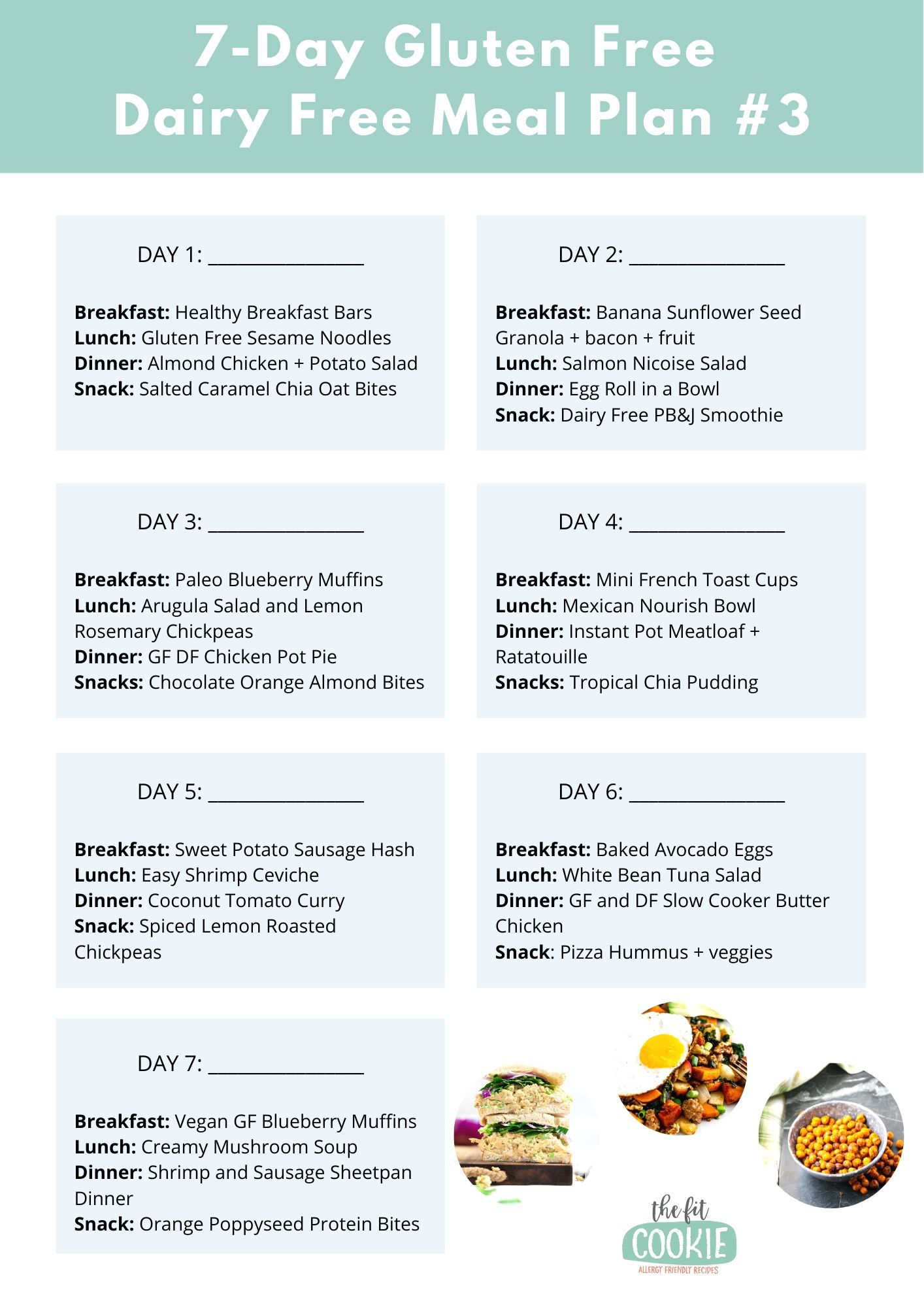 printable menu plan image