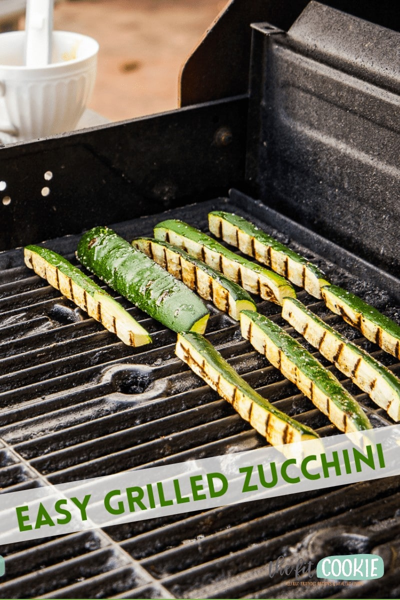 photo of grilled zucchini with text overlay