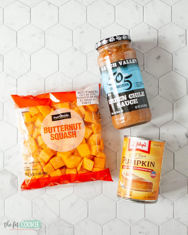 ingredients to make pumpkin chili