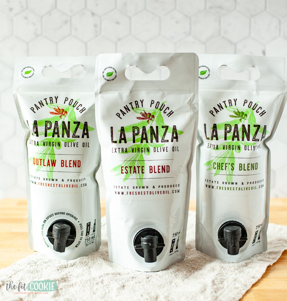 Pantry pouches of La Panza olive oil