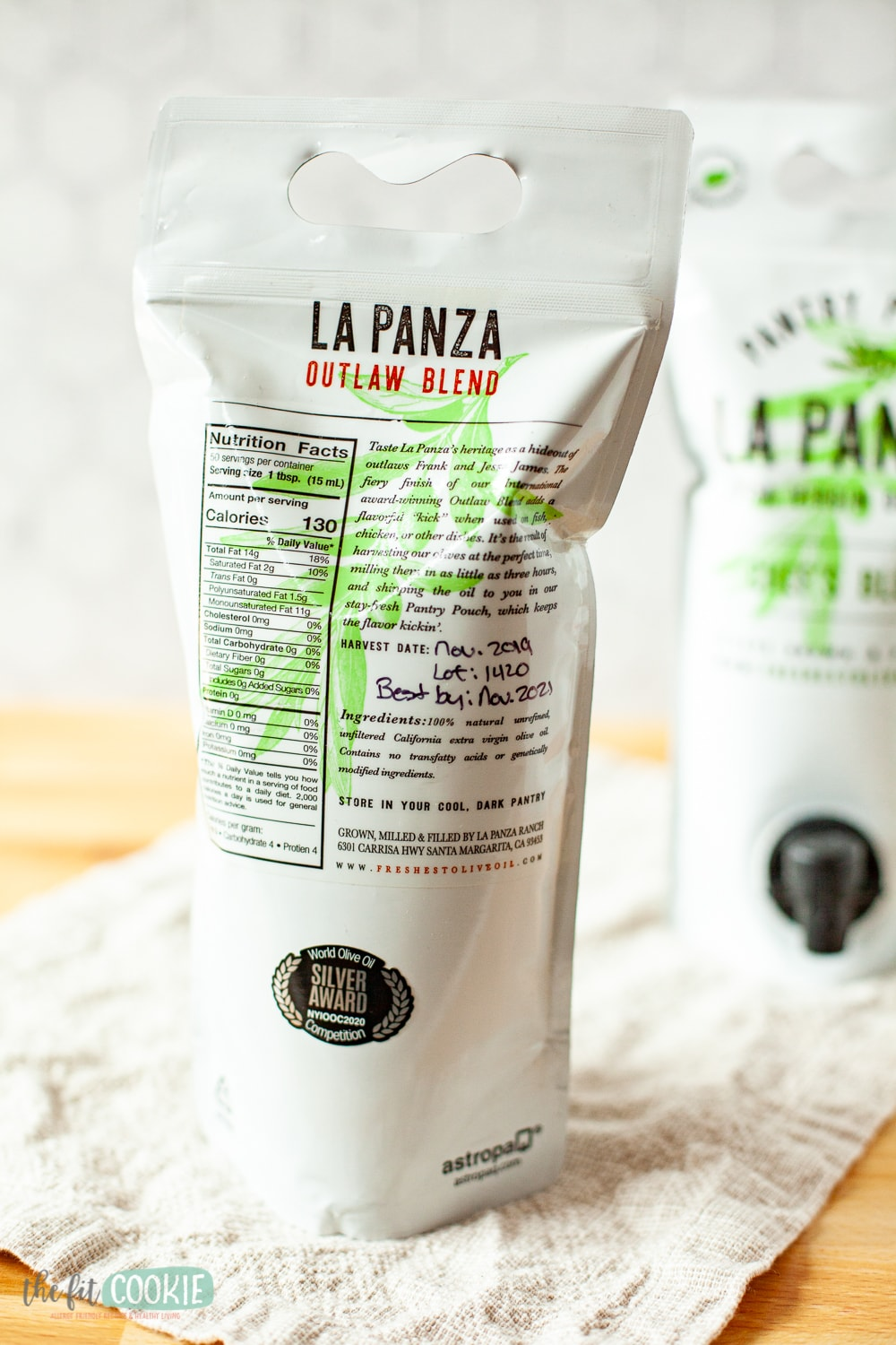 Pouch of La Panza olive oil Outlaw Blend