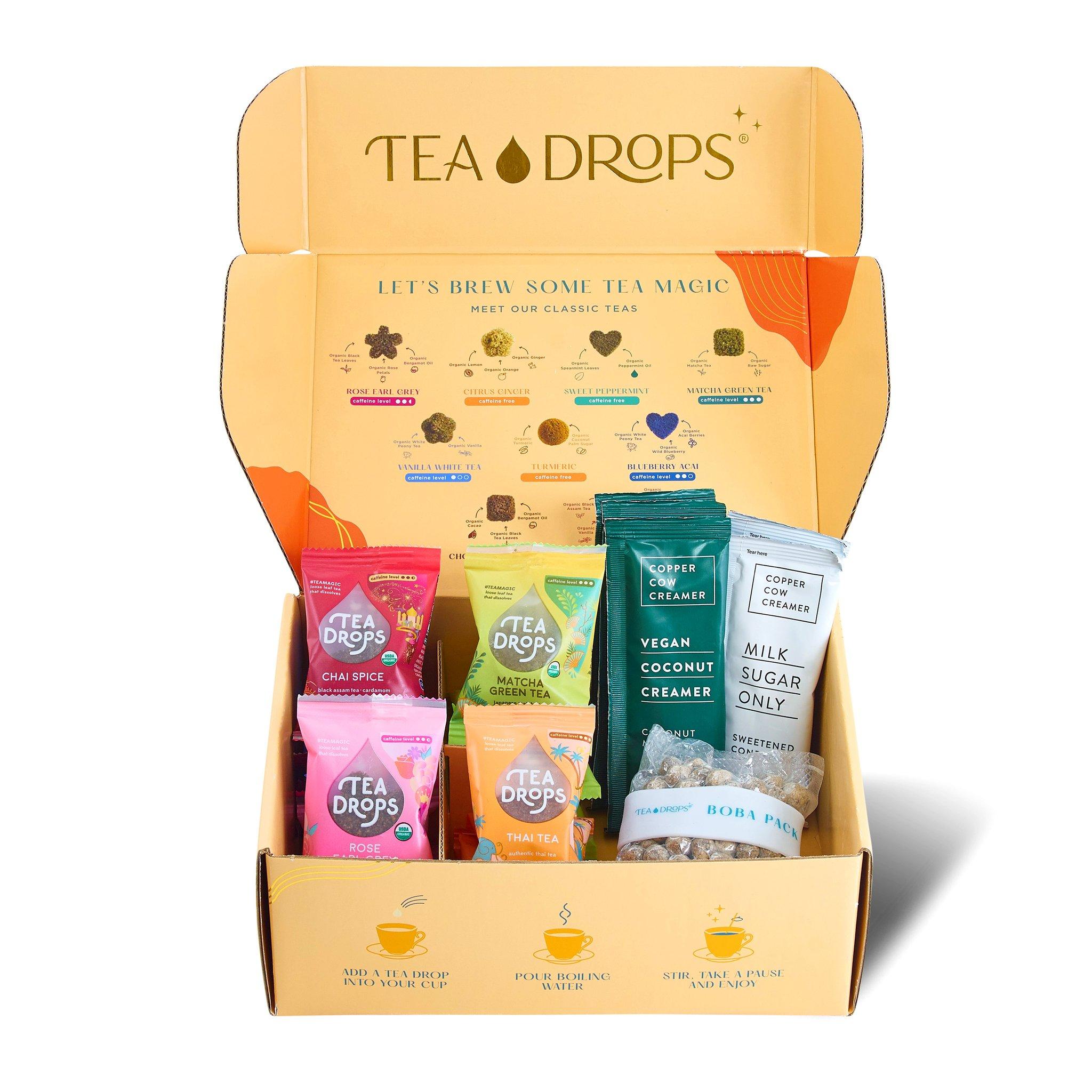 Tea Drops Boba tea gift set
