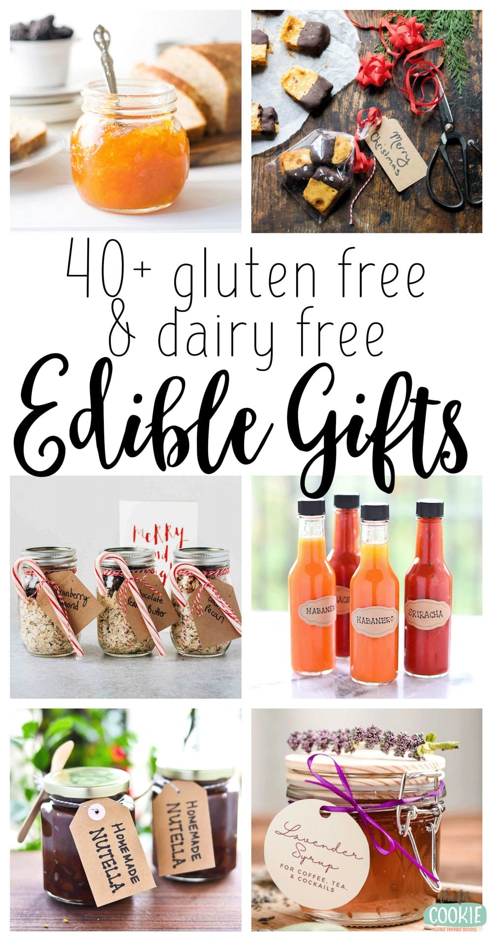 photo collage of allergy friendly edible gifts