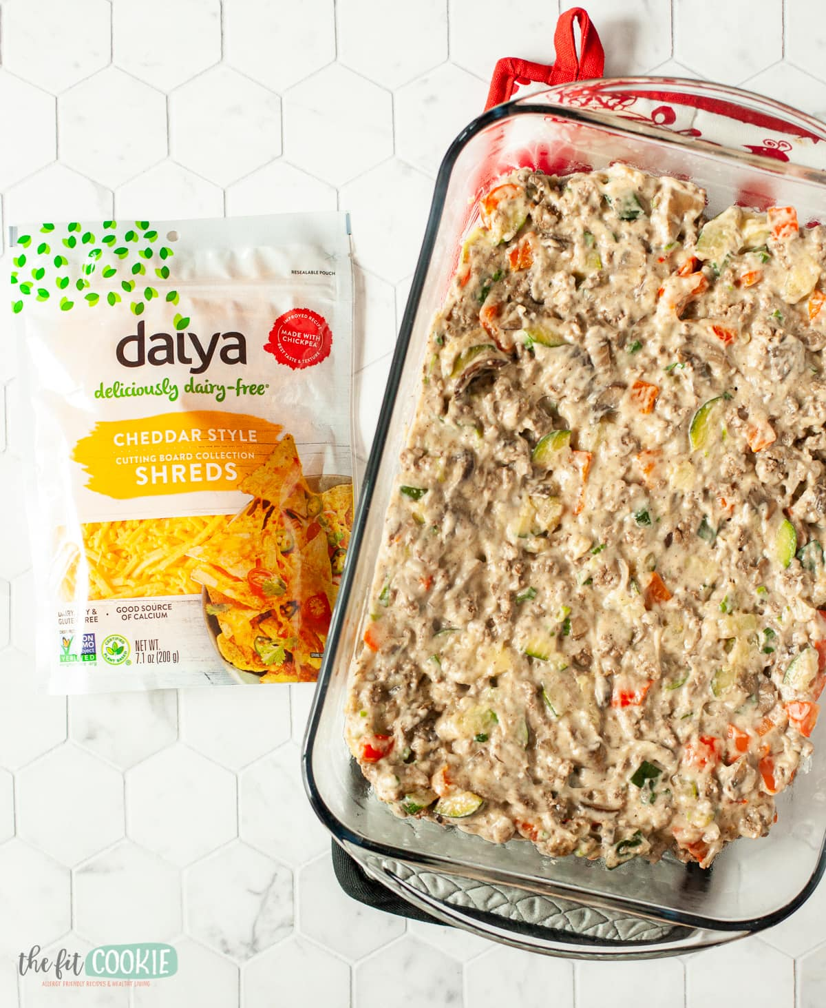 base for dairy free tater tot casserole ready for dairy free cheese