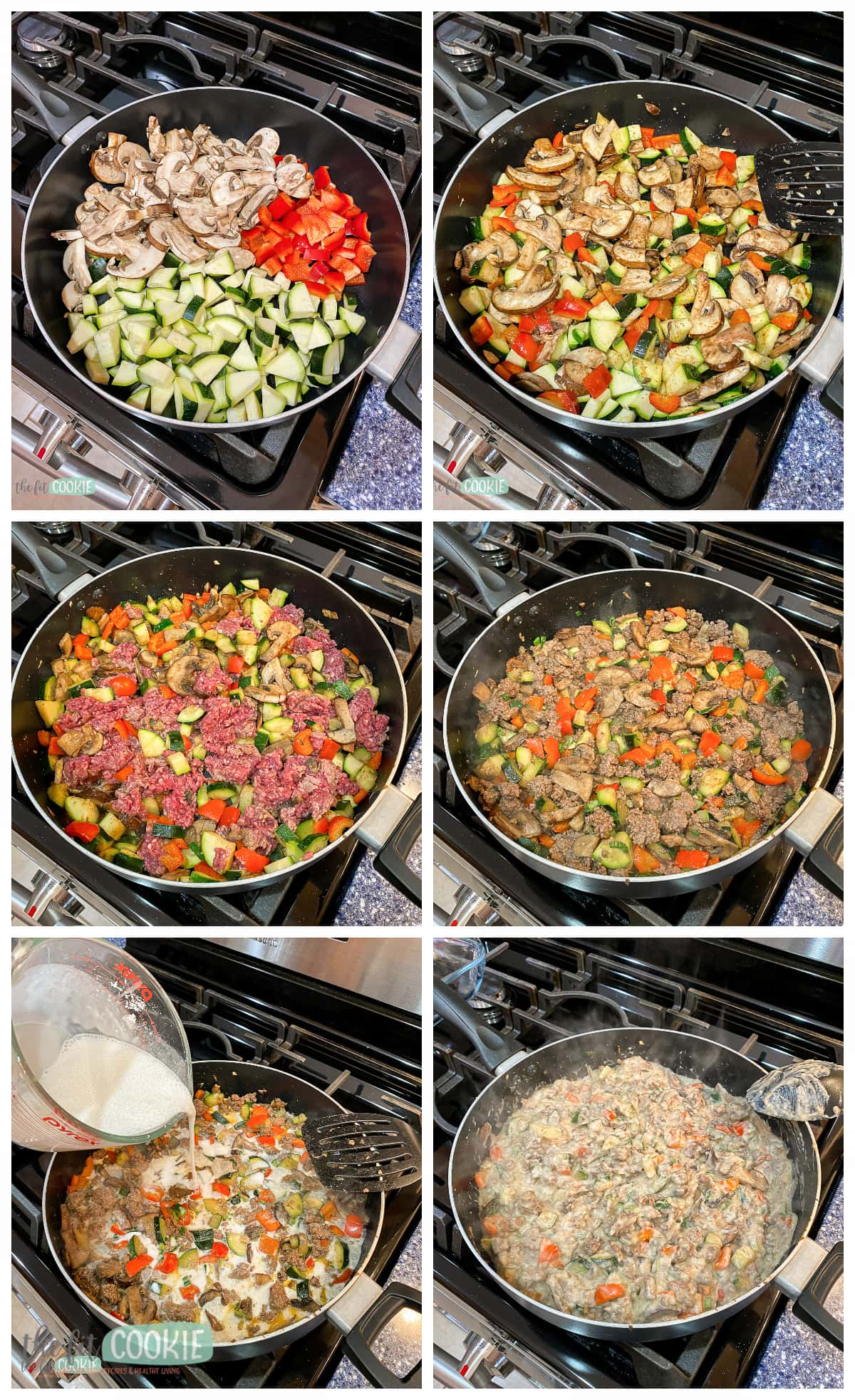 photo collage of how to make dairy free tater tot casserole