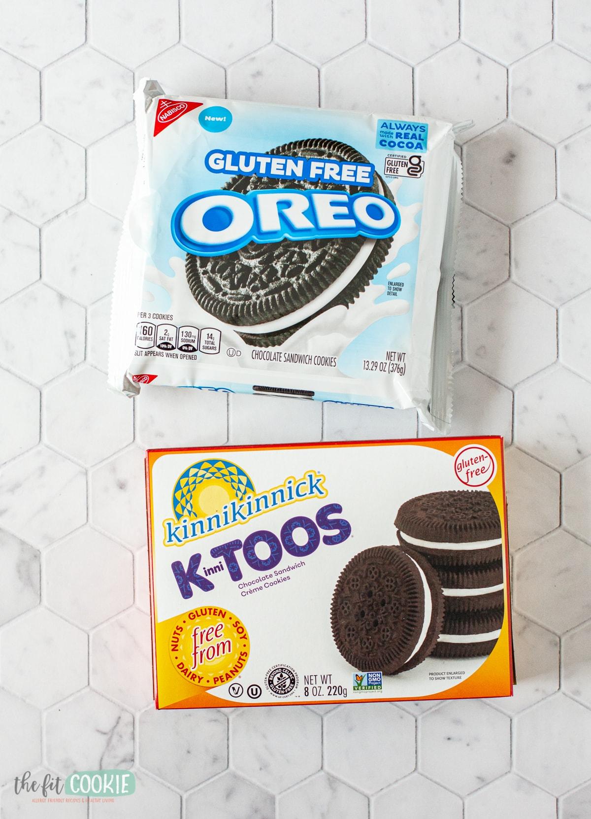 gluten free oreos and gluten free kinnitoos cookies