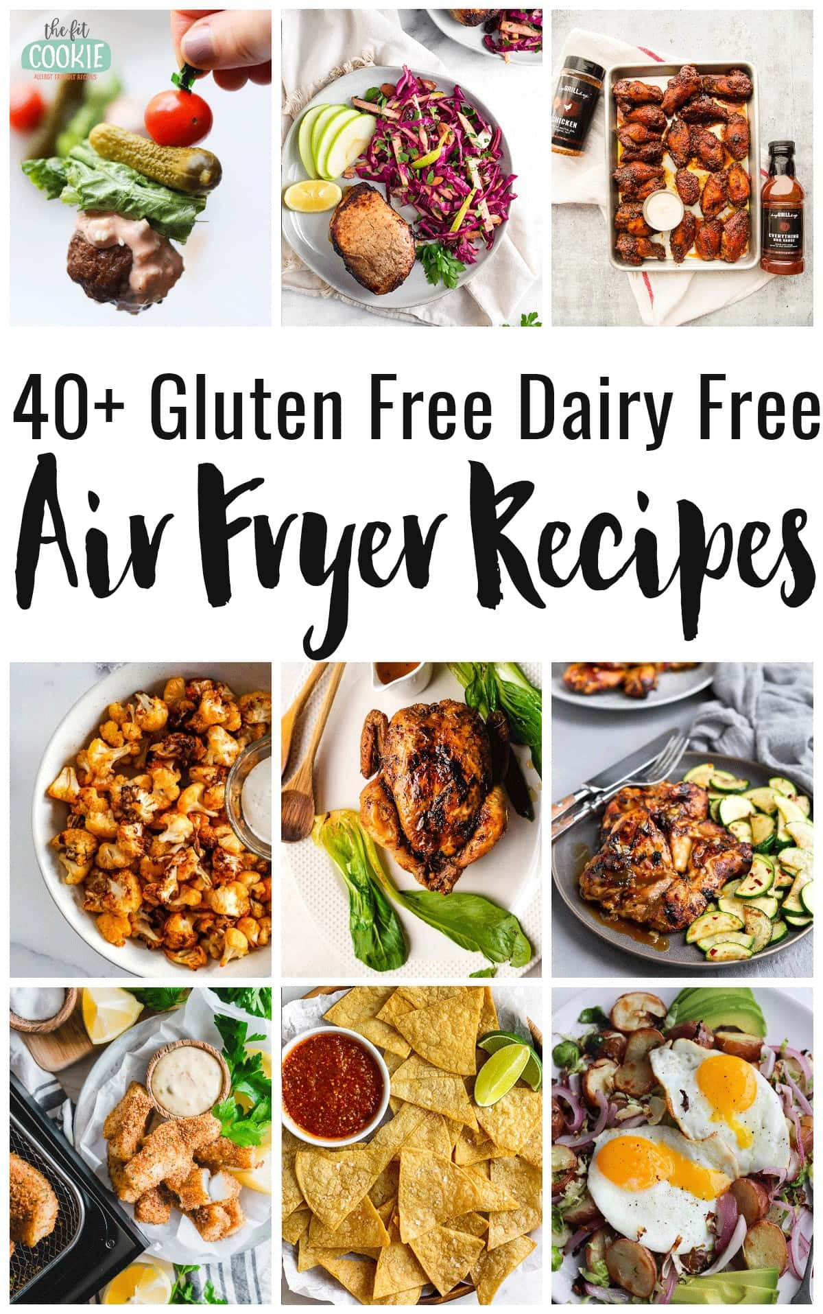 photo collage of allergy friendly air fryer recipes
